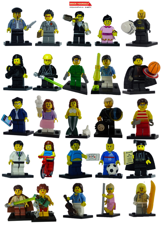 Custom Lego Minifigures Brick Yourself
